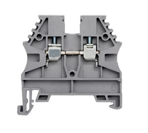 DIN Rail Terminal Blocks, Feed Through and Earth Terminals : AVK Series Feed Through DIN Rail Mounting Terminal Blocks, 600V, 20 to 175 Amp, 26 to 6-2/0 AWG