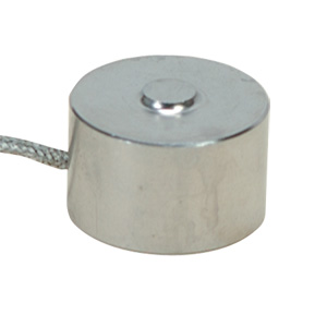 LCM302 Series : Button Style Compression Load Cell, 0-100 to 0-5000 Newtons. 19mm Dia. SS