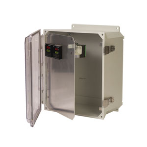 Pre-Cut Front Panels for Plastic Enclosures | OM-HFPU Series Front Panels for Meters &amp Controllers