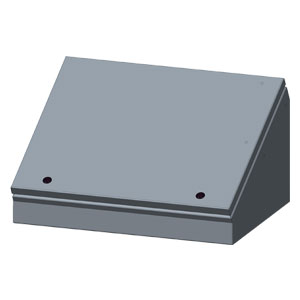 Sloping front enclosures for control box applications | SCE-ELJ Series Operator Consolets