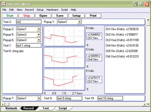 Data Acquisition and Control Software for use with instruNet Data Acquisition Systems   iNET-iWPLUS