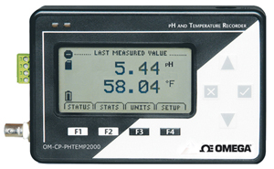 pH and Temperature Data Logger with LCD Display | OM-CP-PHTEMP2000