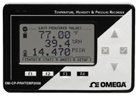 Pressure, Humidity and Temperature Data Logger with LCD Display | OM-CP-PRHTEMP2000
