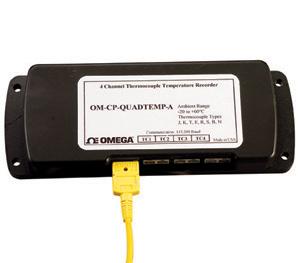 centrale d acquisition de données de température 4 voies, membre de la famille NOMAD® | OM-CP-QUADTEMP-A