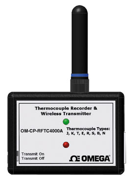 Wireless Thermocouple Temperature Transmitter Part of the NOMAD® Family These products are not CE marked and use a frequency band which is not approved for use in Europe | OM-CP-RFTC4000A