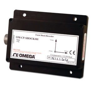 3 axis accelerometer and data logger - Order online | OM-CP-SHOCK101