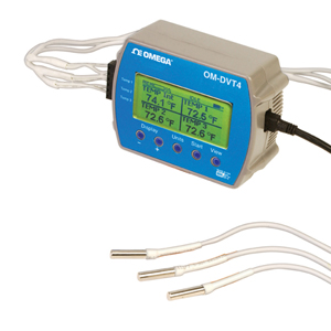 4 Channel Data Logger temperature with Display | OM-DVT4