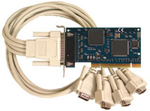 Low Profile PCI 4-Port RS-232 Board | OMG-COMM4-LPCI and OMG-COMM4-PCI