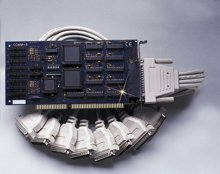 """8 Port ISA RS-232 Serial Interface with Extended """"AT"""" Interrupts   OMG-COMM8-A"""