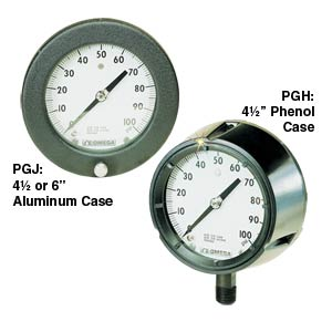 PGH PGJ Pressure Gauge | PGH & PGJ