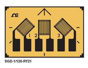 Rectangular 3 Element Strain Gauge | SGD-3/350-RY21