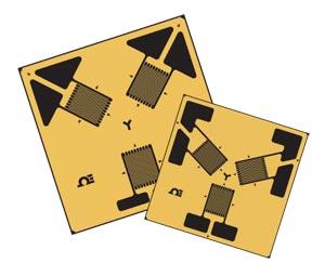 Rosette Strain Gauges 45° and 60° Gauge Patterns | SGD-3/350-RY11