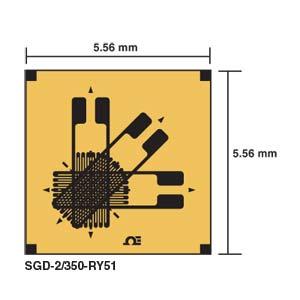 Jauge de contrainte de  précisionROSETTE RECTANGULAIRE EMPILÉE 0/45/90° | SGD-2/350-RY51