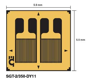 Transducer-Quality Strain Gauges Dual Parallel Grids for Bending Applications | SGT-2/350-DY11