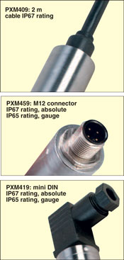 PXM400 series electrical connection options