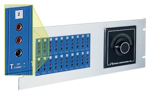 19 inch Jack Panels 3-Prong Connectors   19TJP Series