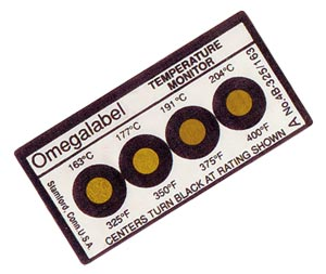 Non-Reversible OMEGALABEL® Temperature Monitors, 4 Temperatures Per Label | 4A-(*),4B-(*) and 4C-(*)