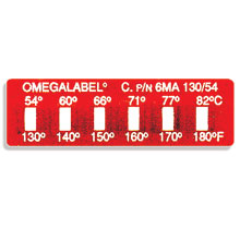 Non-Reversible OMEGALABEL™ Temperature Monitors, Models 6MA-(*) and 6MB-(*) | 6M Series