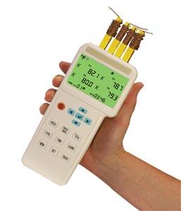 Thermomètre et enregistreur de données numérique à 4 entrées avec interface USB | Série HH1384