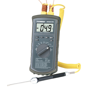 4-Channel Type-K Thermometer with Backlit Display | HH501DK