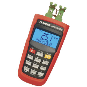 thermocouple thermometer 2 channel data logger | HH806