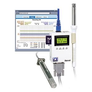 Ethernet-transmitter for temperatur og fugtighed. Få vist og tegn diagrammer af aflæsninger via en webbrowser!  | iTHX-SD