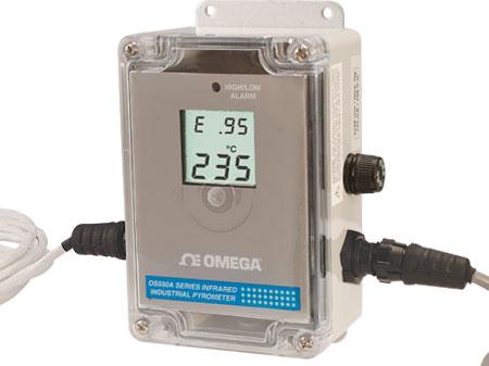 thermomètre infrarouge industriel avec affichage local et sortie analogique | Série OS550A