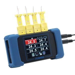 6-kanálový ruční dataloger s dotykovým ovládáním a záznamem na SD kartu | RDXL6SD