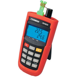 Indicateurs portables de température et humidité. Port USB et logiciel Windows en option   Série RH820