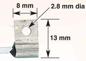 Dimensiones de la sonda pt100 RTD830 de superficie OMEGA