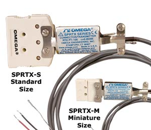 Miniaturní teplotní převodníky pro Pt100 a termočlánky umístěné v teplotním konektoru   SPRTX a STCTX Série