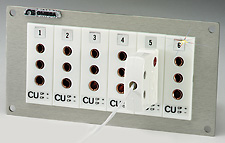 Jack Panels with Color Coded 3 Prong Connectors | TJP