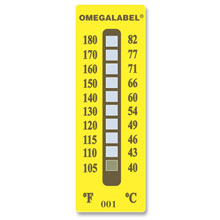 Non-Reversible Temperature Labels, 10 Temperature Ranges | TL-10
