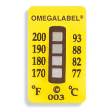 Non-Reversible OMEGALABEL™ Temperature Labels TL-4 Range Series | TL-4