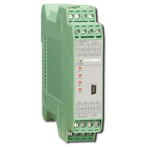 Dvojitý teplotní převodník na lištu DIN   TXDIN70