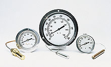 Vapor and Gas Actuated Thermometers, Panel & Surface Mount  | VA and GA Series
